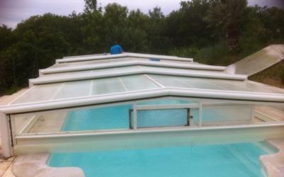 Réparation toiture d'un abri de piscine eureka